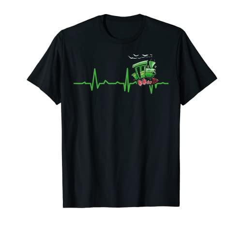 Herzschlag Modelleisenbahn Lokomotive Lok Modell Eisenbahn T-Shirt