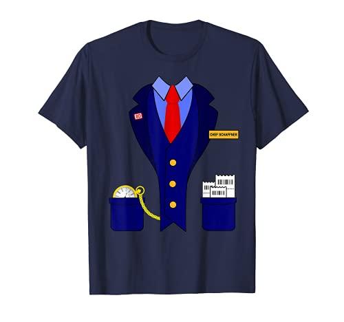 Chef Schaffner Zugführer Lokomotive Bahn Karneval Kostüm T-Shirt