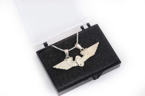 Zunftbedarfde Eisenbahn Geschenk Halskette Kette Flügelrad echt Silber