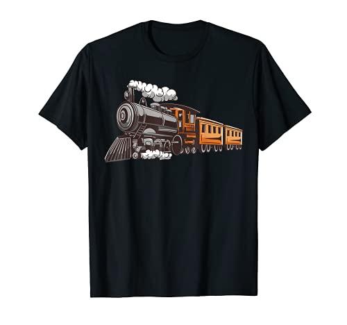 Kids Dampflokomotive I Kinder Zug I Eisenbahn Dampflok T-Shirt