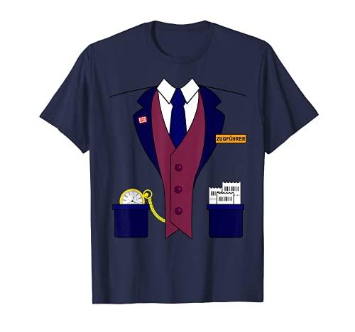Zugführer Schaffner Lokomotivführer Karneval Kostüm Jungen T-Shirt