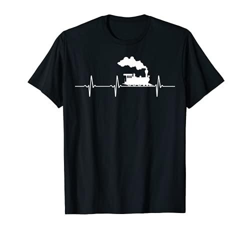 Eisenbahn Lok Tshirt Lokomotive Herzschlag Kinder Zug T-Shirt