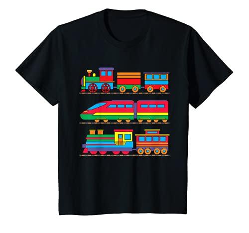 Kinder Eisenbahn Kinder Lokomotiven Züge Dampflok Diesel T-Shirt