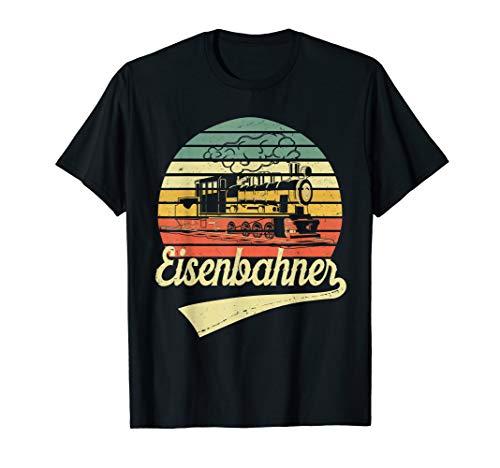 Dampflokomotive Eisenbahner Dampflok Vintage Retro T-Shirt