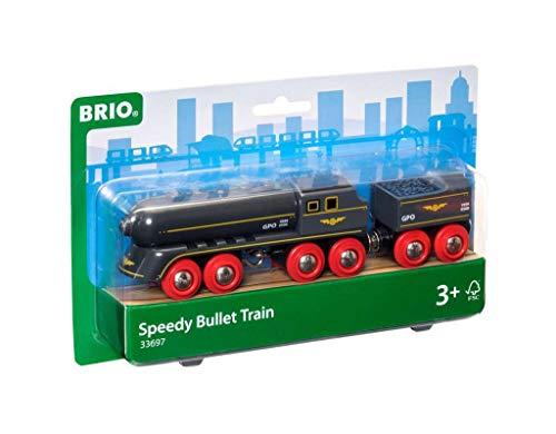 BRIO Bahn 33697 - Schwarzer Kugelblitz mit Kohlentender,White