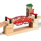 BRIO World 33757 Hebebrücke – Eisenbahnzubehör für die BRIO Holzeisenbahn – Kleinkinderspielzeug empfohlen für Kinder ab 3 Jahren