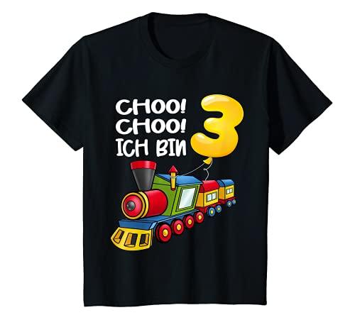 Kinder Choo Choo Ich Bin 3 Jahre alt Zug Jungen 3. Geburtstag Lok T-Shirt