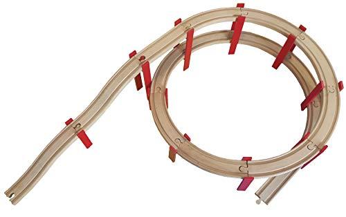 Spirale Holzeisenbahn kompatibel mit Brio IKEA Lillabo Eichhorn ohne Schienen