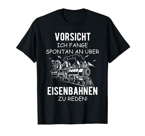 Herren Eisenbahn Dampflok Lokomotiven Züge Modellbahn Eisenbahner T-Shirt