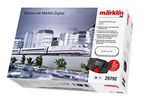 Märklin 29792 ‐ Digital-Startpackung ICE 2, Spur H0 Modelleisenbahn, viele Soundfunktionen, mit Mobile Station und C-Gleis Schienen