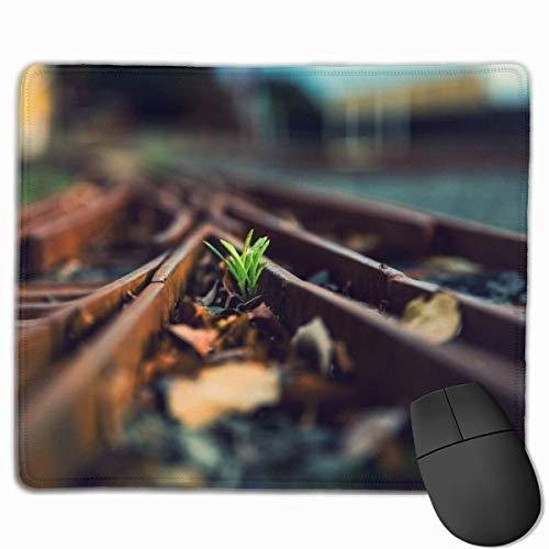 Glatte Mauspad Eisenbahn mit Blatt Mobile Gaming Mousepad Work Mouse Pad Office Pad