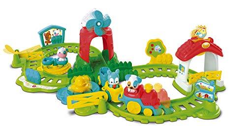 Clementoni 59200 Die Farm-Eisenbahn, bunter Bauernhof-Spaß, motorbetriebene Lokomotive, süße Tier-Figuren & Melodien, Spielzeug für Kleinkinder ab 12 Monaten, ideal zu Weihnachten