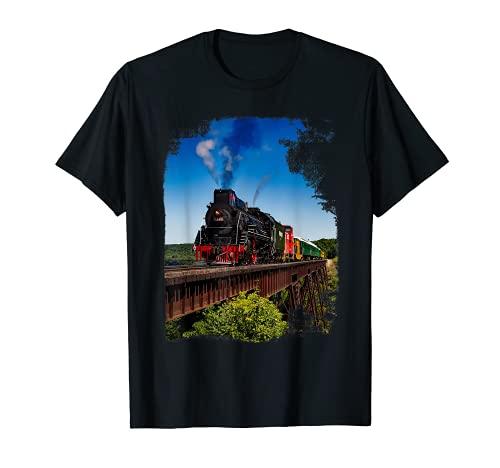 Dampflok Porträt Zug T-shirt I Eisenbahn Lokomotive