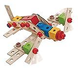 Eichhorn 100039027 - Constructor groß?e Lok, 100-tlg., Holz-Konstruktions-Set, 4 verschiedene Modellvarianten baubar, FSC 100% Zertifiziertes Buchenholz, Made in Germany