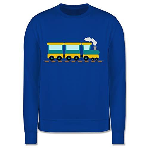 Shirtracer Kinder Traktor Bagger und Co. - Eisenbahn - 104 (3/4 Jahre) - Royalblau - Eisenbahn Pullover Kinder - JH030K - Kinder Pullover