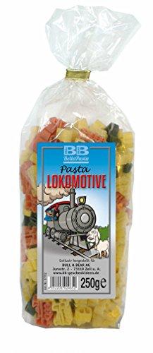Bunte Eisenbahn-Nudeln 'Pasta Lokomotive'