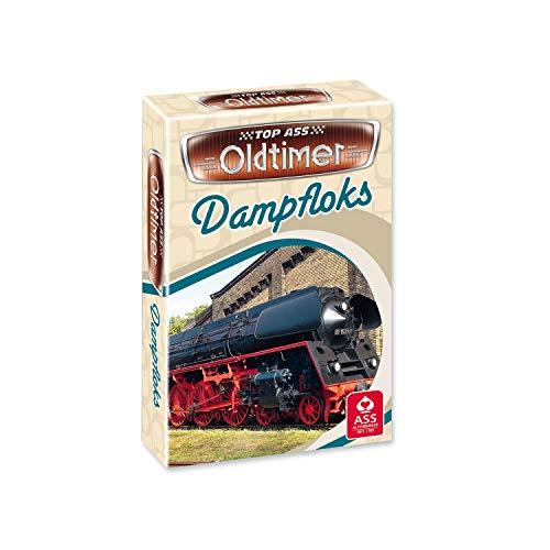 ASS Altenburger 22571453 - TOP ASS Oldtimer - Dampfloks, Quartett, Kartenspiel