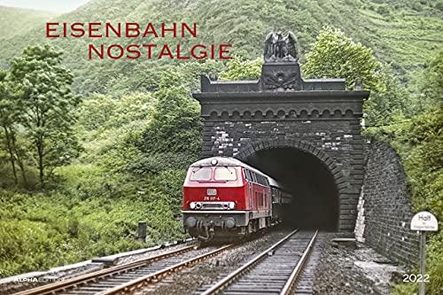 Eisenbahn-Nostalgie 2022 - Bild-Kalender 49,5x33 cm - Technik-Kalender - Lokomotive - Zug - Wand-Kalender - Alpha Edition