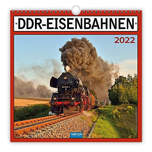Trötsch Technikkalender DDR-Eisenbahn 2022: mit Bildern und Texten von Jan & Patrick Welkerling: 30 x 30 cm, mit Bildern und Texten von Jan & Patrick Welkerling