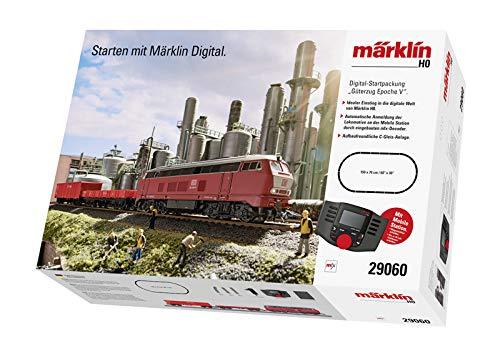 Märklin 29060 Digital-Startpackung Güterzug Epoche 5, Spur H0 Modelleisenbahn, mit Mobile Station und C-Gleis Schienen