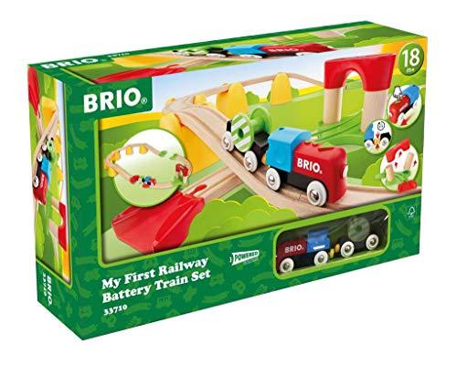 BRIO Bahn 33710 - Mein erstes Bahn Set mit Batterielok,Bunt