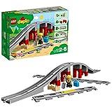 LEGO 10872 DUPLO Eisenbahnbrücke und Schienen, Bauset mit einem Funktionsstein