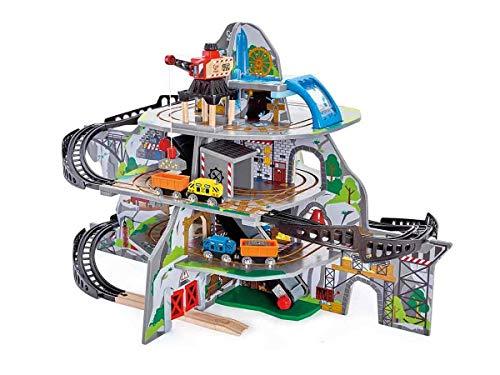 Hape E3753 – Riesige Bergmine, Holzeisenbahn mit viel Zubehör, ToyAward Gewinner 2017 und Top 10 Spielzeug 2017, ab 3 Jahre