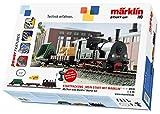Märklin start up 29133 Up Märklin Startpackung-Modelleisenbahn Starter Set, für Kinder ab 6 Jahren, 3-teiliger Zug mit Licht, Spur H0