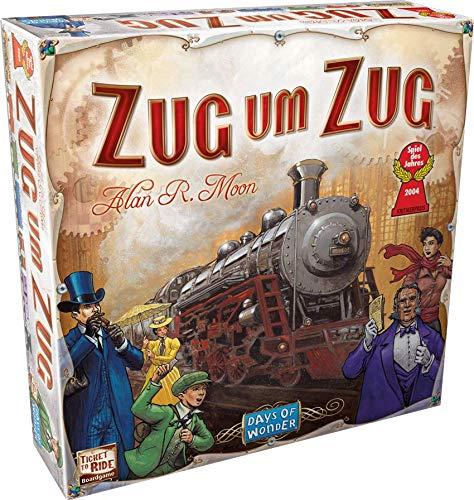 Asmodee Zug um Zug, Grundspiel, Familienspiel, Deutsch