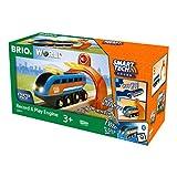 BRIO World 33971 Smart Tech Sound Lok mit Aufnahmefunktion – Elektrischer Zug mit Tunnel – Interaktives Spielzeug empfohlen ab 3 Jahren