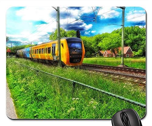 Mauspad Niederländischer Zugverkehr Eisenbahn Eisenbahn Gaming Mauspad Langlebig Office Mauspad Komfort Mousepads Matte Für Computer Office Voyager 25X30Cm