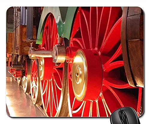 Mauspad Eisenbahn Lokomotive Dampflokomotive Zugfahrt Mausunterlage Anti Rutsch Gummiunterseite Ultradünner Gaming Mousepad Stabiler Gaming Mausmatte Für Laptop/Pc, 25X30 Cm