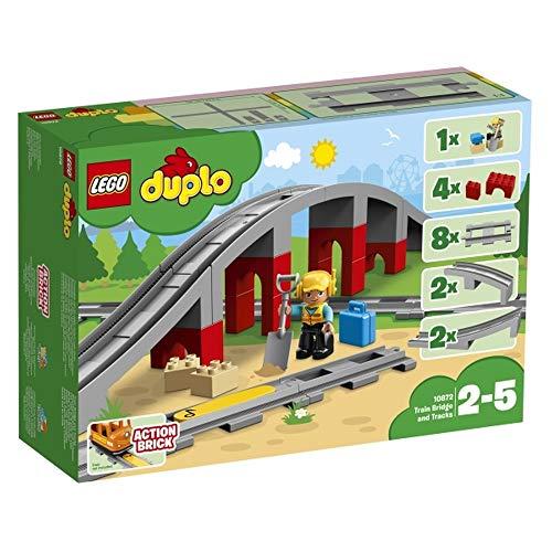 Unbekannt Lego Duplo Eisenbahnbrücke und Schienen, 26 Teile
