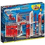 Playmobil 9462 - City Action Große Feuerwache mit Soundeffekten, Ab 4 Jahren