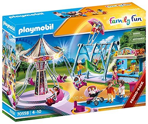 PLAYMOBIL Family Fun 70558 Großer Vergnügungspark, Inkl. Lichteffekt, Für Kinder von 4 - 10 Jahren