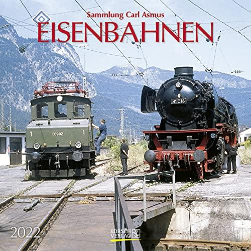 Eisenbahnen 2022: Broschürenkalender mit Ferienterminen. Format: 30 x 30 cm