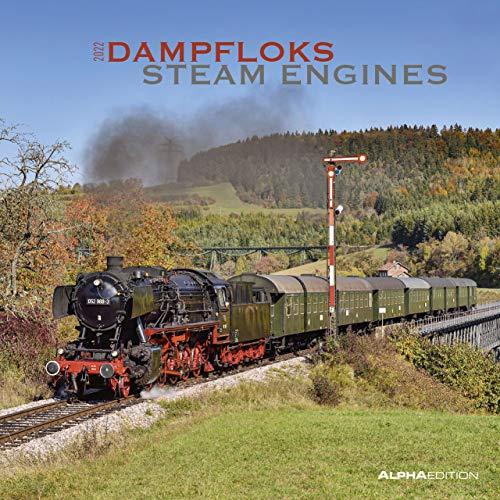 Dampfloks 2022 - Broschürenkalender 30x30 cm (30x60 geöffnet) - Kalender mit Platz für Notizen - Steam Engines - Bildkalender - Wandkalender