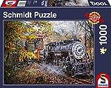 Schmidt Spiele Puzzle 58377 Faszination Eisenbahn, 1000 Teile Puzzle, bunt