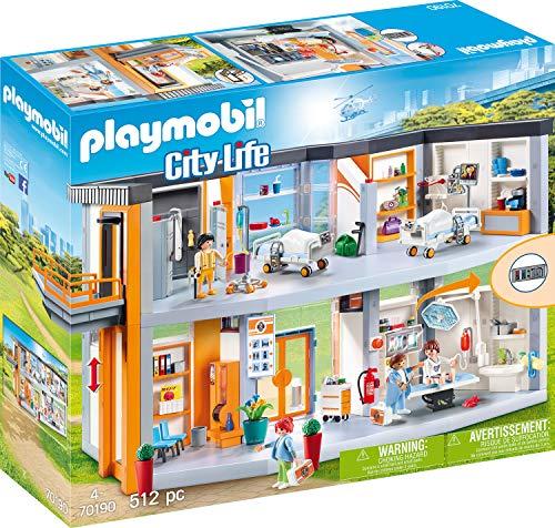 PLAYMOBIL City Life 70190 Großes Krankenhaus mit Einrichtung, Ab 4 Jahren