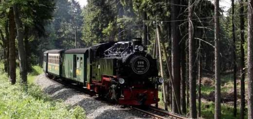 Fichtelbergbahn bei Niederschlag