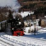 Fichtelbergbahn Unterwiesenthal im Winter