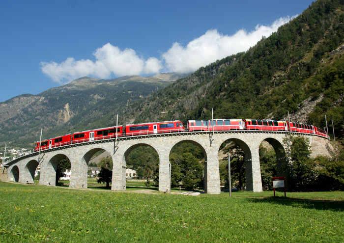 Bernina Express Kreisviadukt Brusio