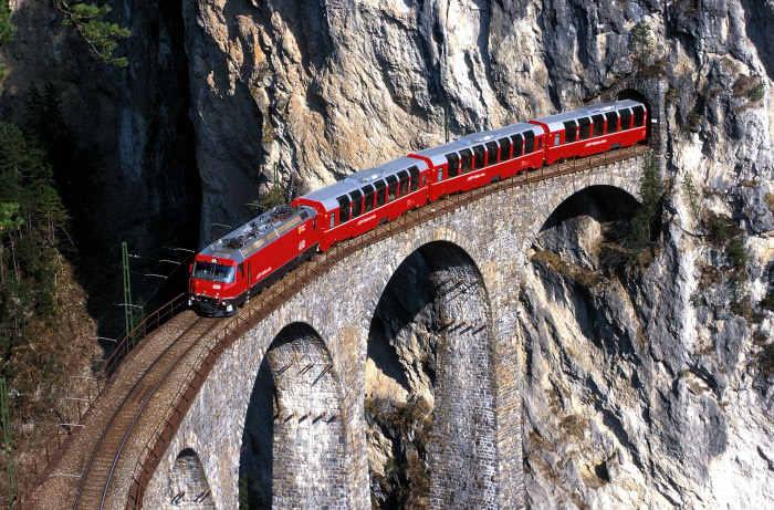 Landwasserviadukt der Albulabahn