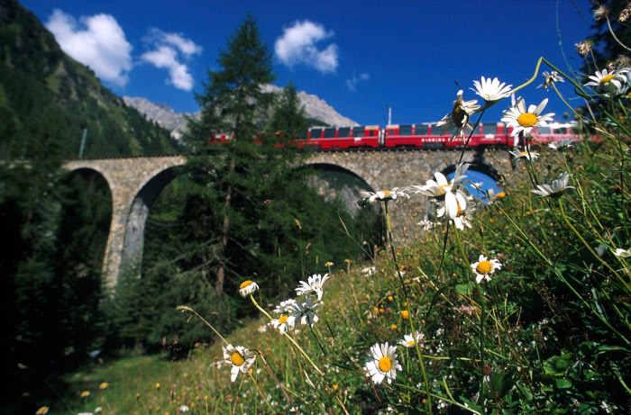 Bernina Express und der Viadukt-Wahnsinn