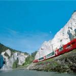 Glacier Express in Rheinschlucht