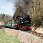 Wiederaufbau abgeschlossen: Weißeritztalbahn dampft bis Kipsdorf