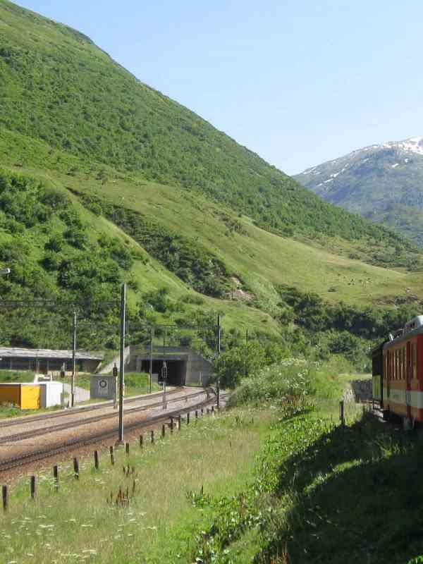 Furka-Basistunnel Eingang Nordostportal