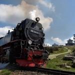 Brockenbahn der Harzer Schmalspurbahne (HSB) am Brockengipfel