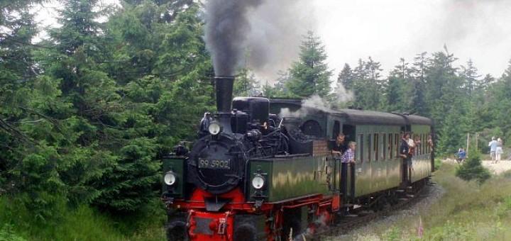 Malletdampflok der Harzer Schmalspurbahn am Goetheweg