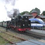 Rasender Roland im Bahnhof Putbus